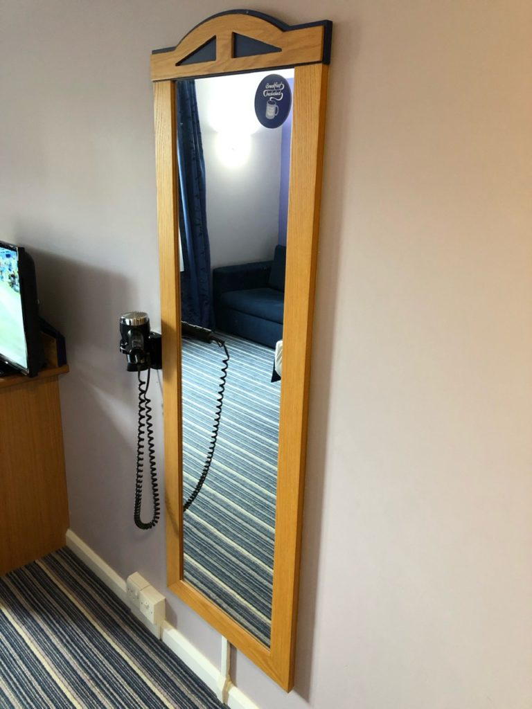 Hairdryer and mirror at Holiday Inn Express Poole