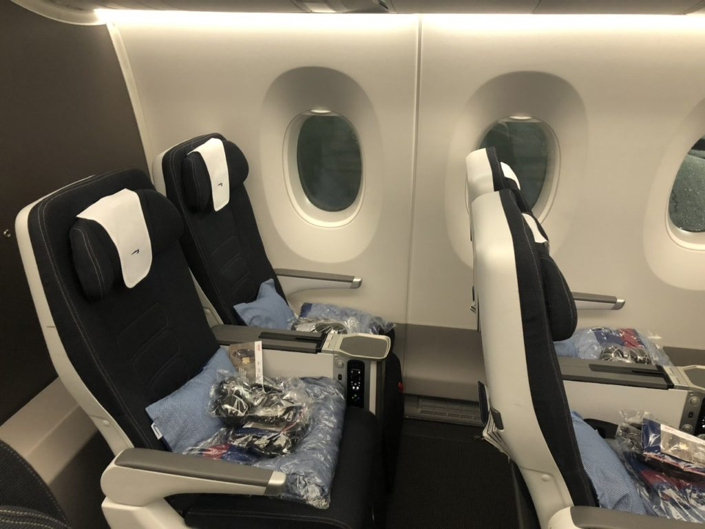 BA A350 premium economy seats 26A and B