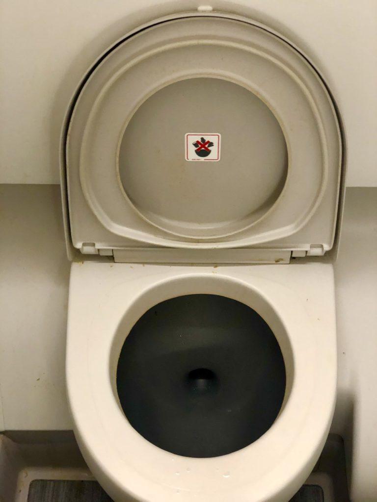 Toilet in BA economy
