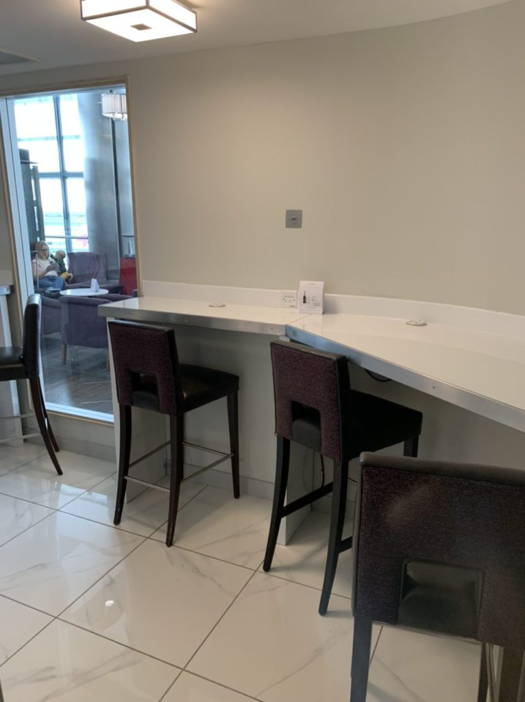 Quieter work areas at the ASPIRE Lounge