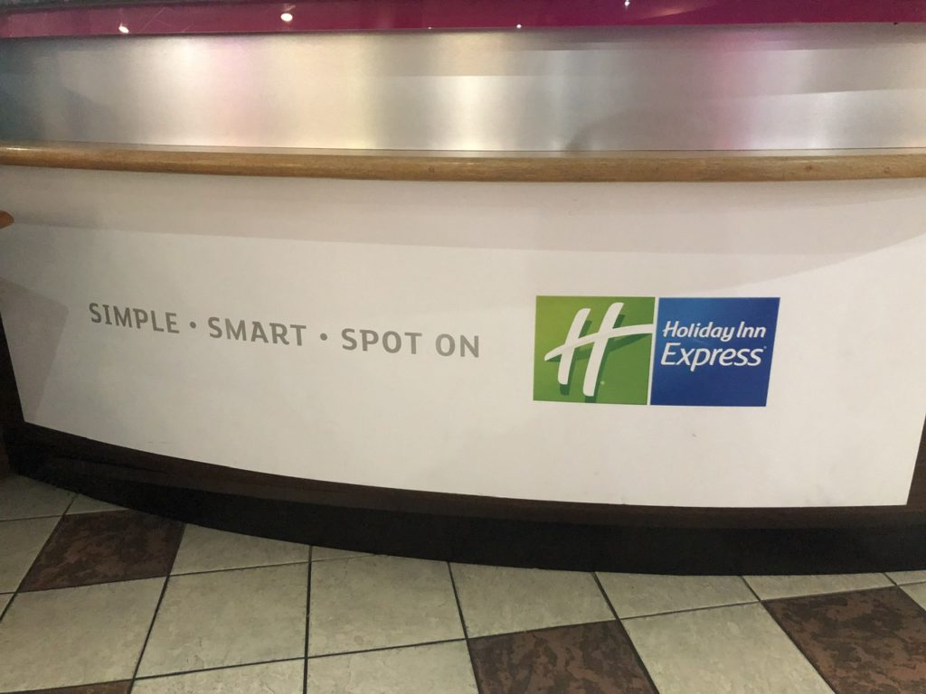 Front desk at Holiday Inn Express Poole