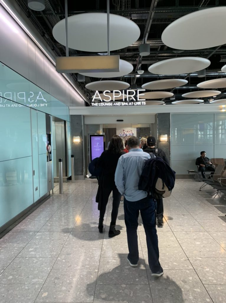 Queues outside the ASPIRE Lounge