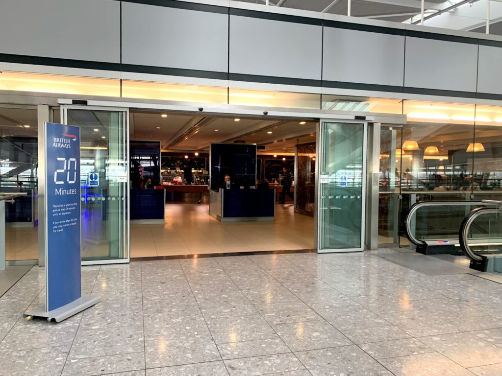 Reception to BA Club Lounge T5