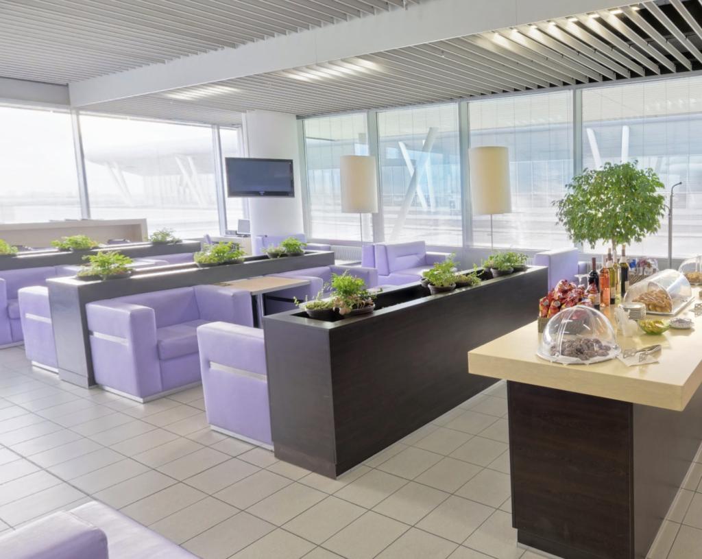 A view of Pliska lounge's seating area