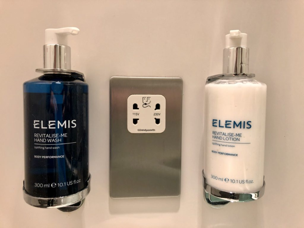 Elemis soaps at BA Galleries First Lounge Heathrow