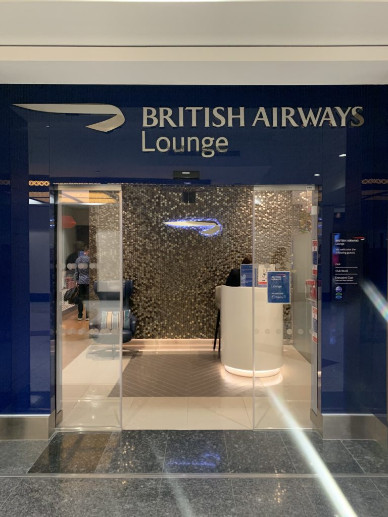 The Entrance to the British Airways Lounge in Dubai