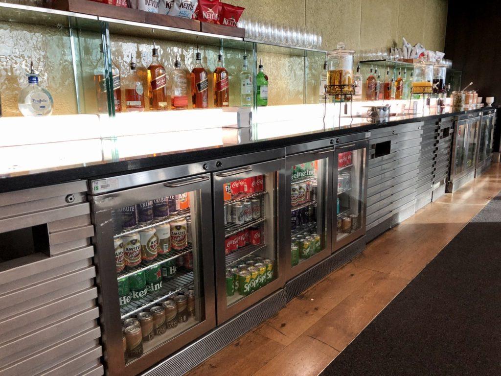 Drinks fridges BA Galleries First Lounge Heathrow