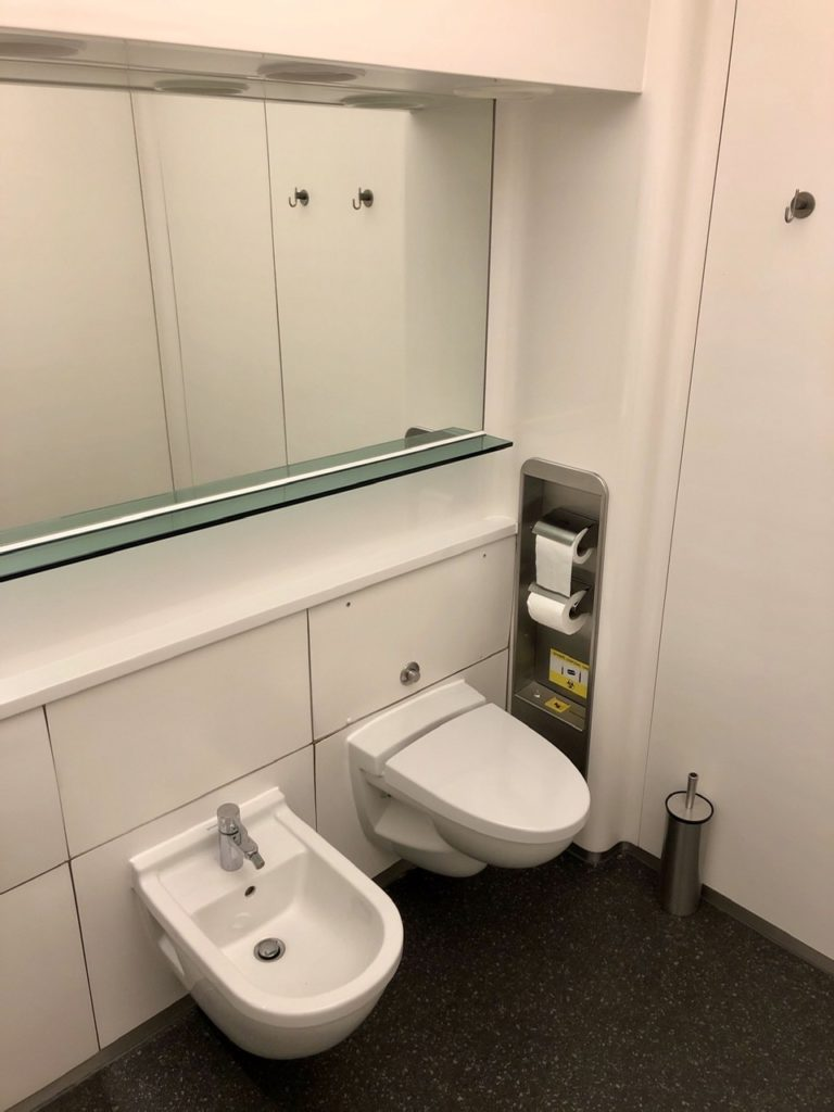 Toilet at BA Galleries First Lounge Heathrow