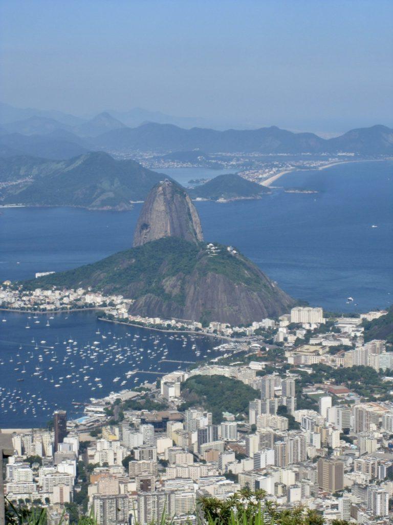 Sugarloaf Mountain from Corcovado, Rio de Janiero