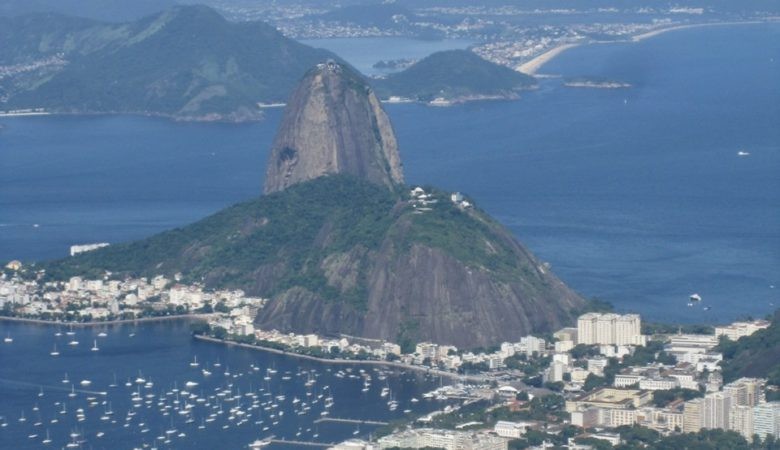 Sugarloaf Mountain from Corcovado, Rio de Janiero