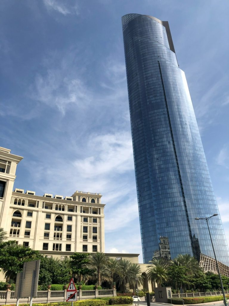 The residential block that looms over Palazzo Versace Dubai