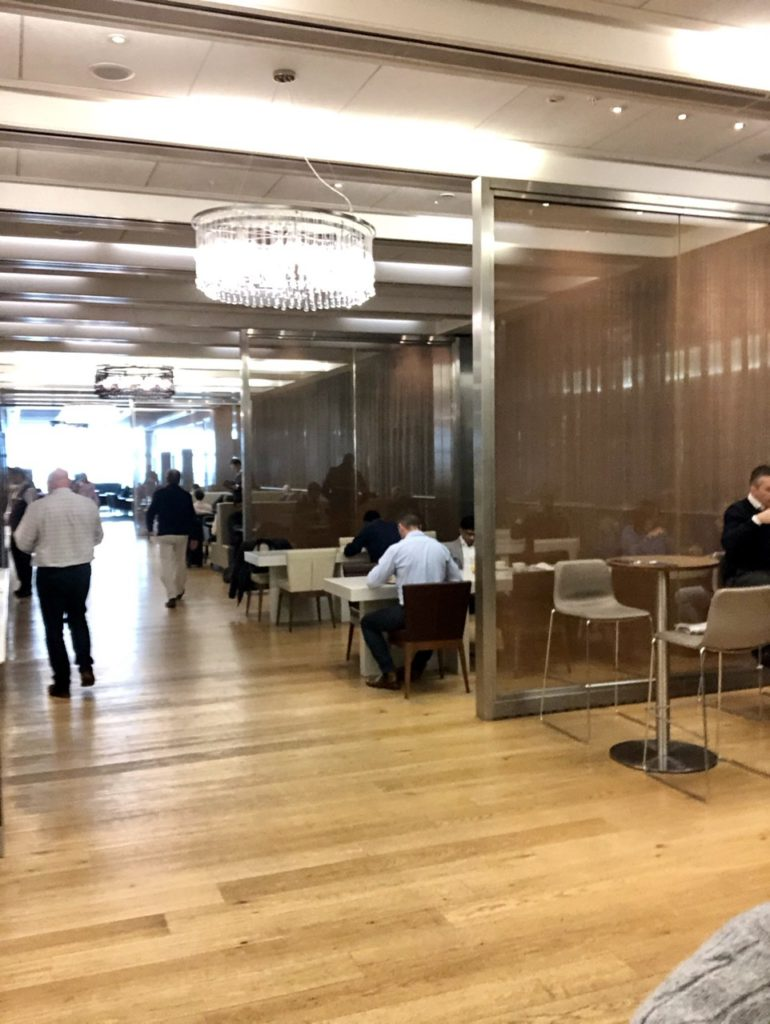 The Refectory in BA Galleries First Lounge Heathrow