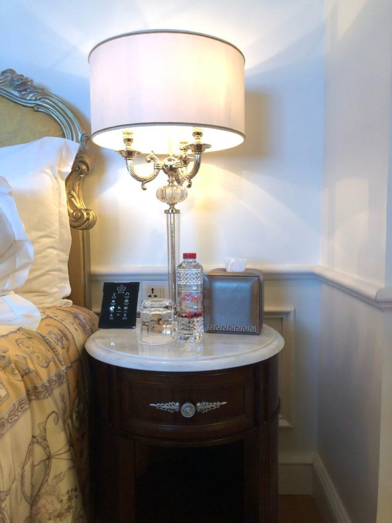 Bedside at Palazzo Versace Dubai