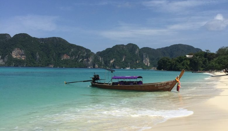 The beach at Koh Phi Phi, Thailand