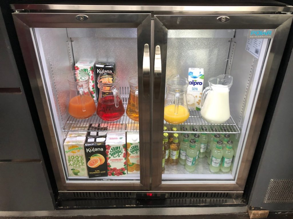Soft drinks at the ASPIRE Lounge
