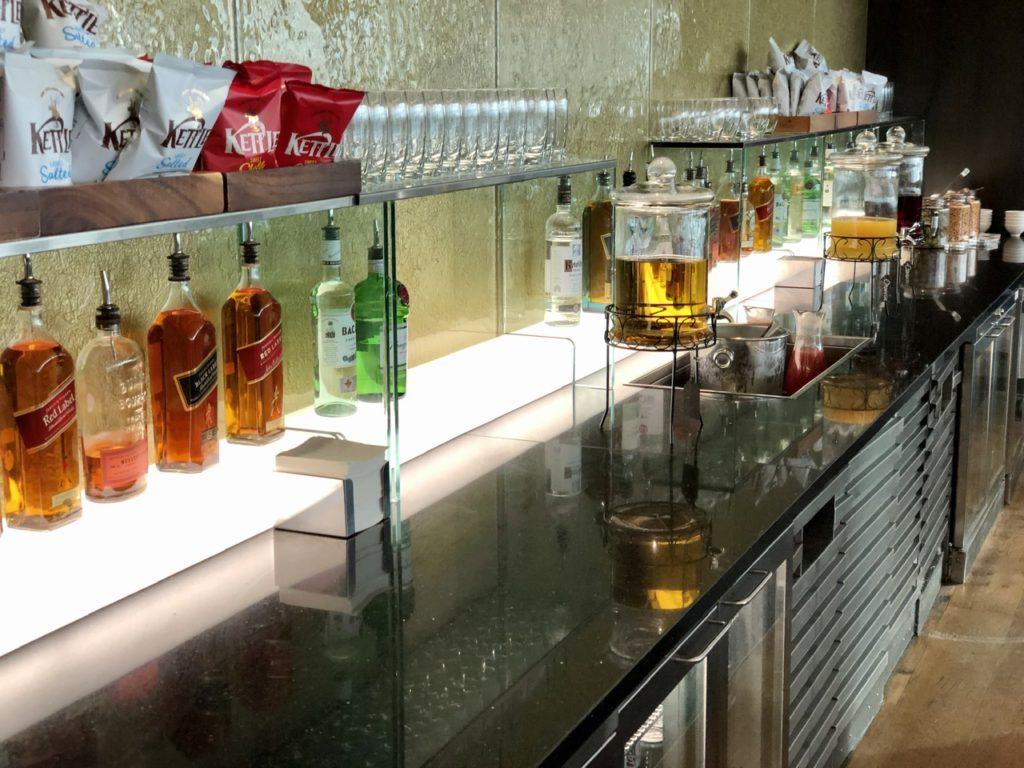 Bar at BA Galleries First Lounge Heathrow
