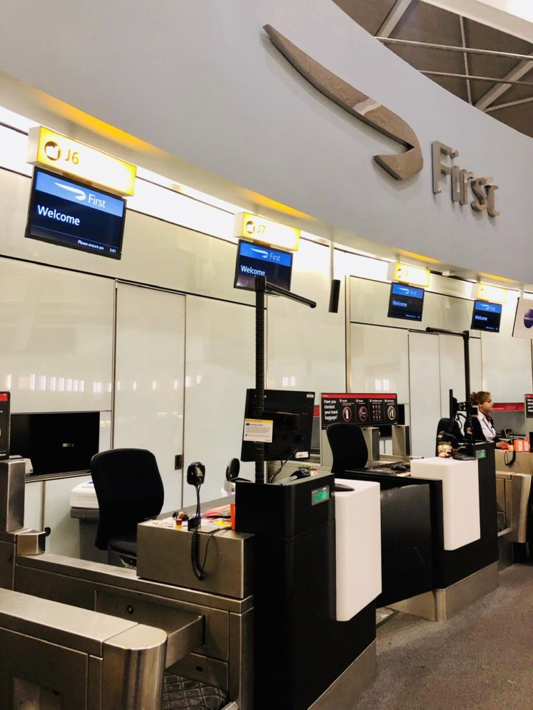 BA First check-in Heathrow T5