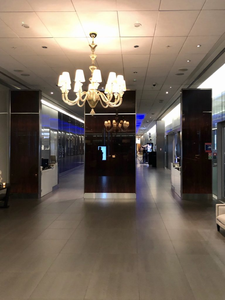 Cloakroom & entrance at BA Galleries First Lounge Heathrow
