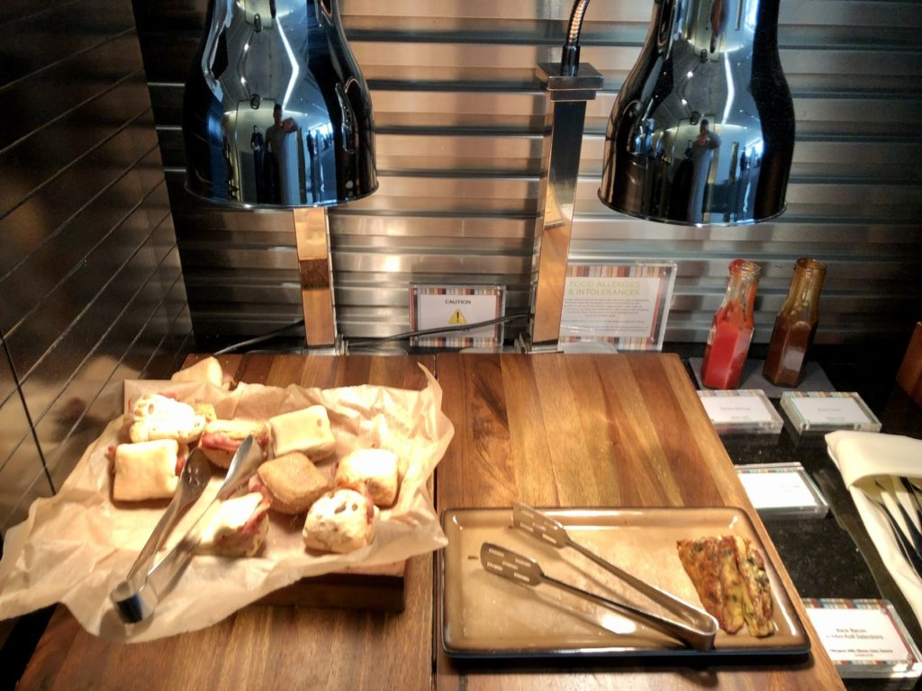 Grab & Go bacon roll at BA Galleries First Lounge Heathrow