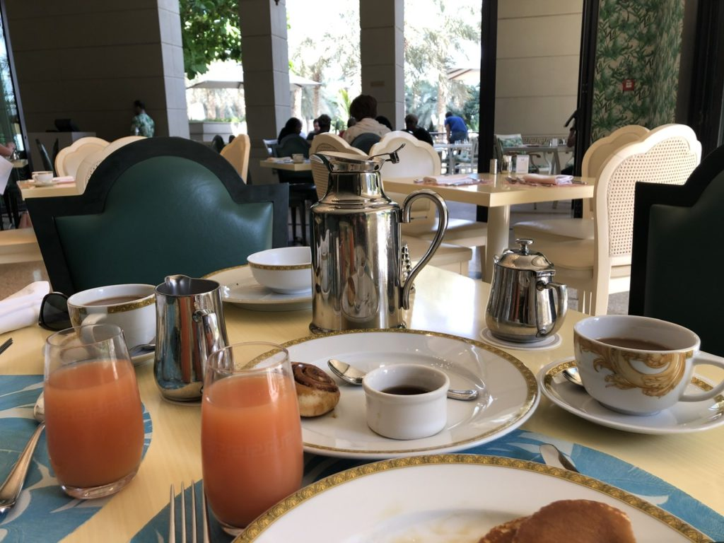 Breakfast at Palazzo Versace Dubai