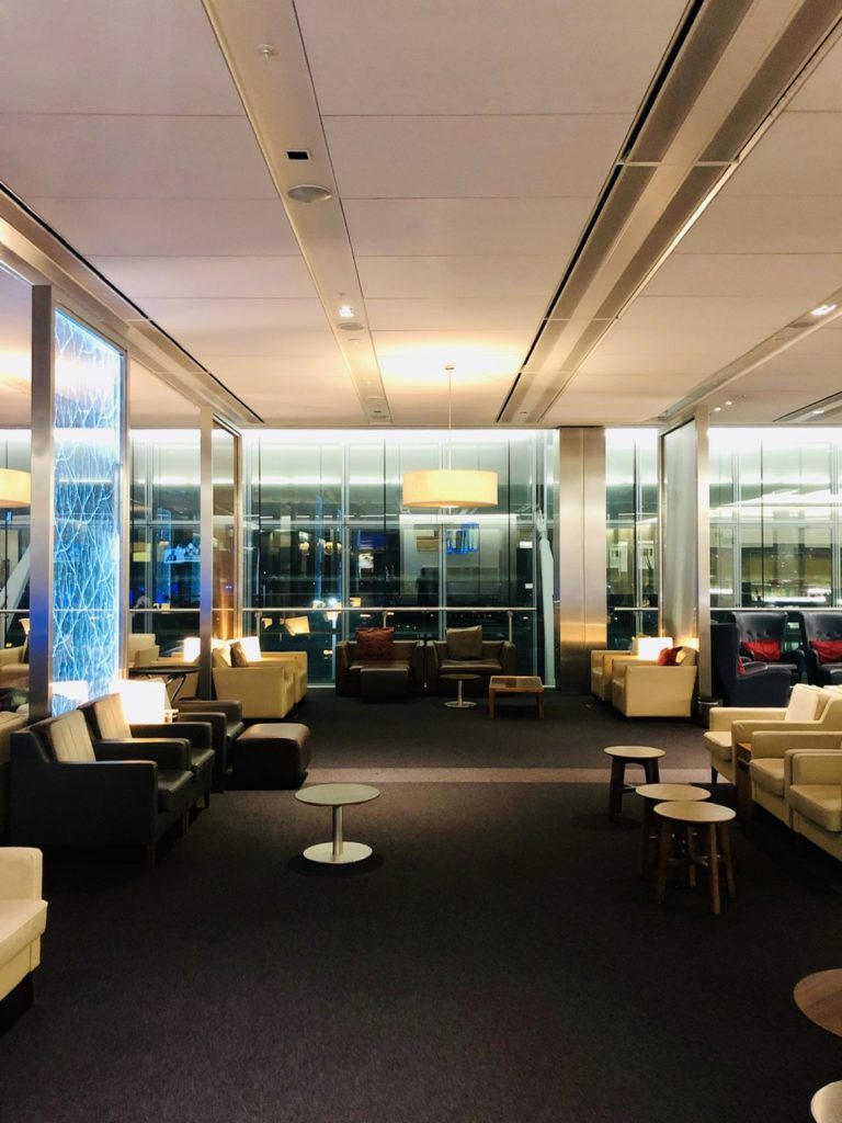 Lounge seats at BA Galleries First Lounge Heathrow