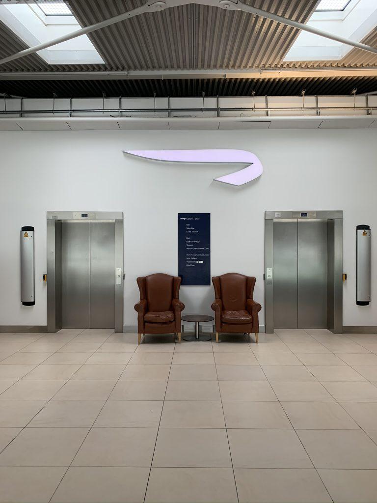 Reception of Heathrow Terminal 5 British Airways Satellite 5B lounge