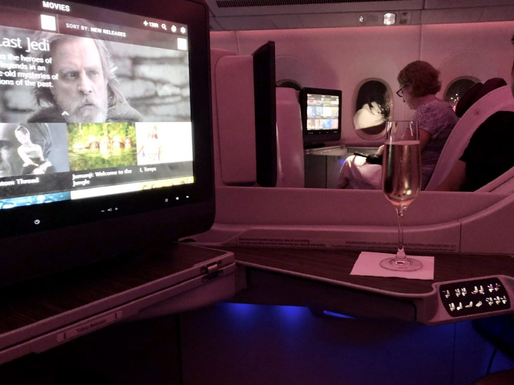 Collins Super Diamond business class seat on Qatar Airways A350