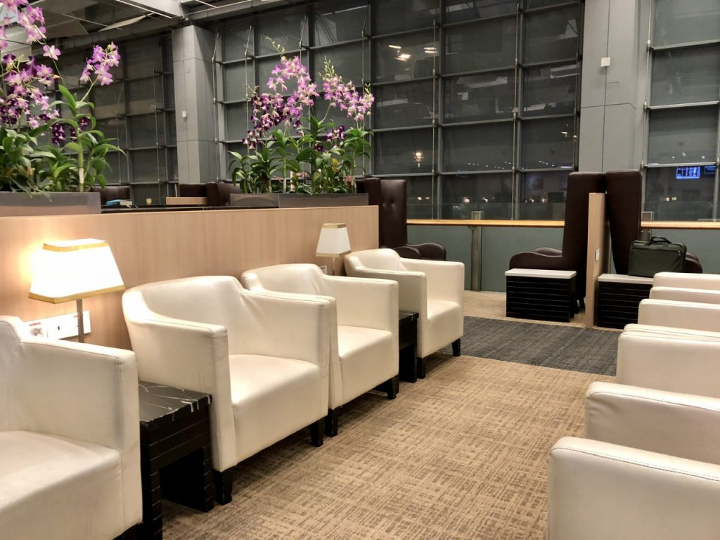 Seating in the Sats Premier Lounge
