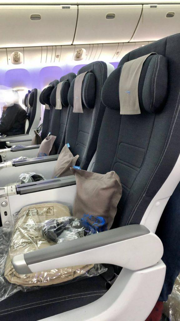 BA Premium Economy seats