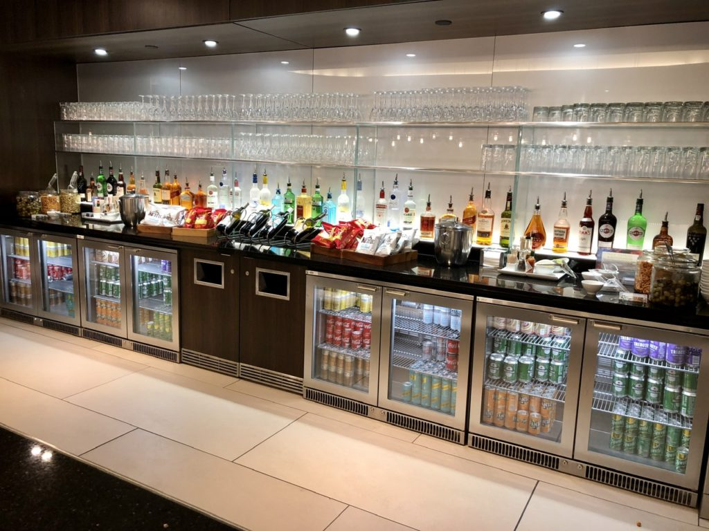 Bar at British Airways Club Lounge, London Gatwick