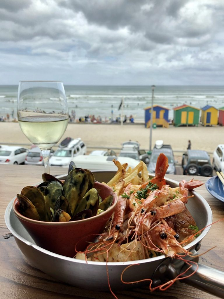 Food on Muizenberg Beach, Cape Town, South Africa