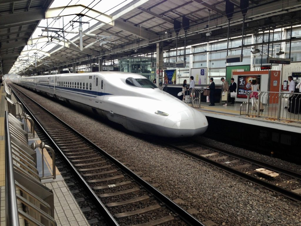 Bullet Train in Tokyo, Japan