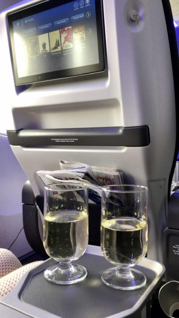 Sparkling wine in BA Premium Economy