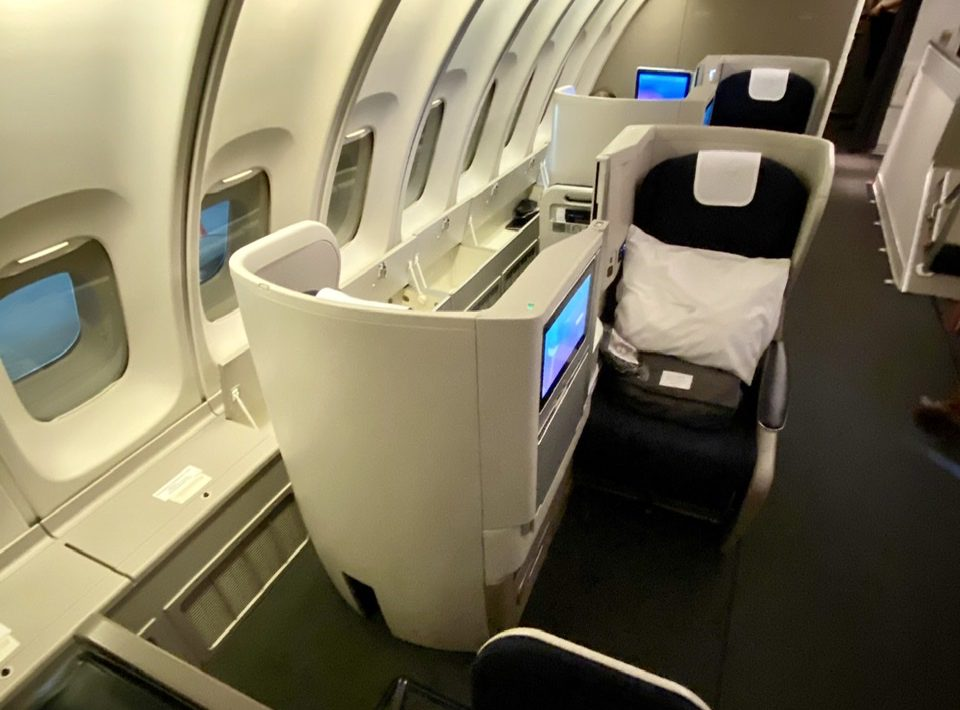 British Airways 747 top deck
