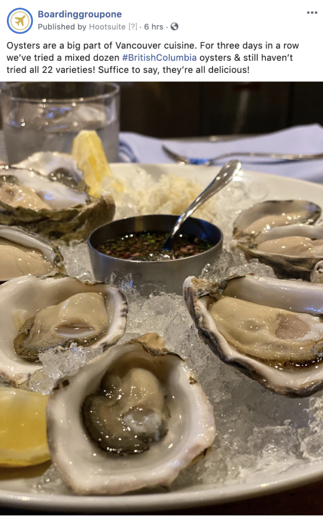 Facebook Oysters