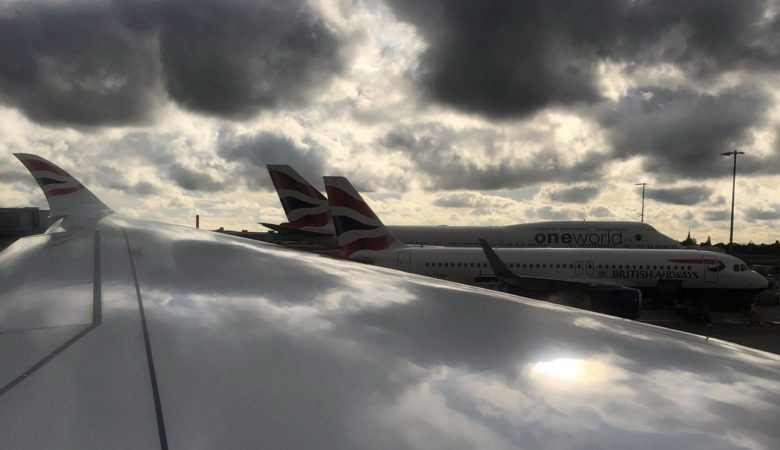 BA aircraft parked at London Heathrow