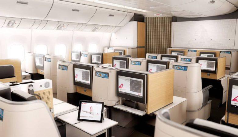Swiss Business Class cabin