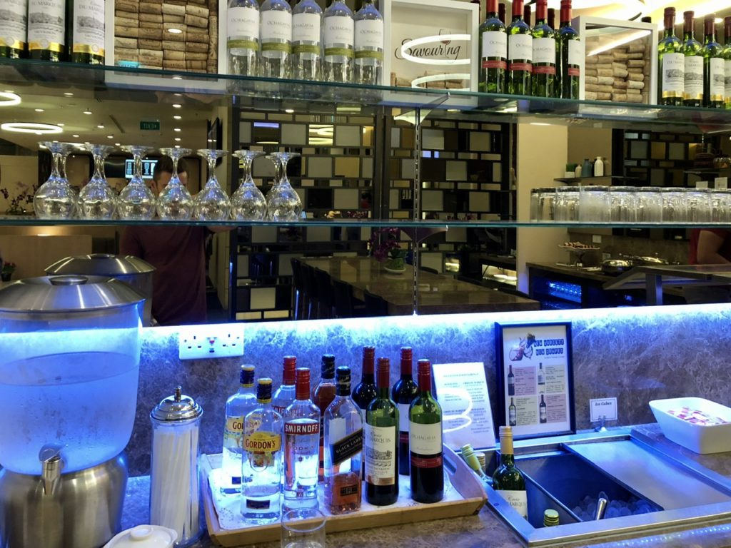 Bar at SATS Premier Lounge, Singapore Changi Airport