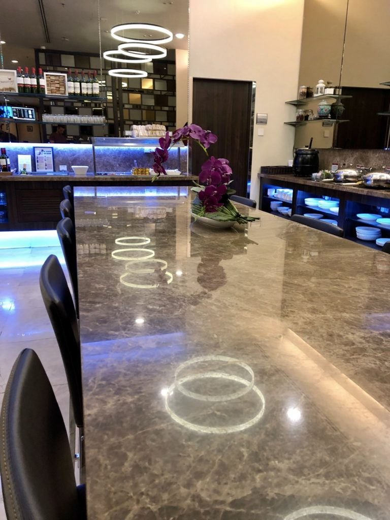 Dining at SATS Premier Lounge, Singapore Changi Airport
