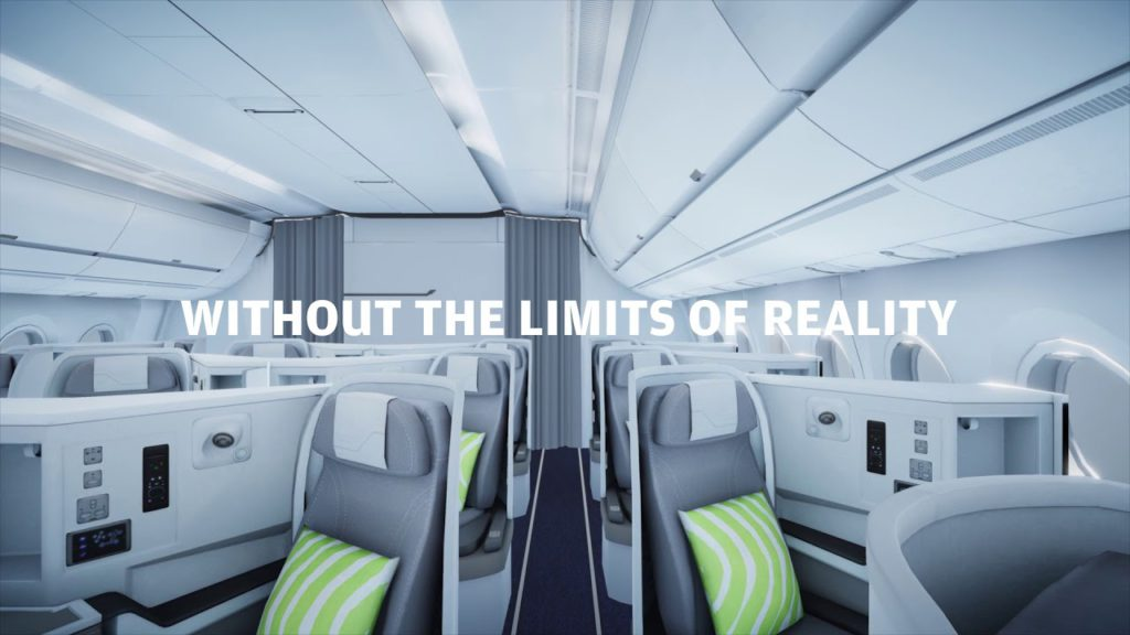 Finnair A350 business class advert