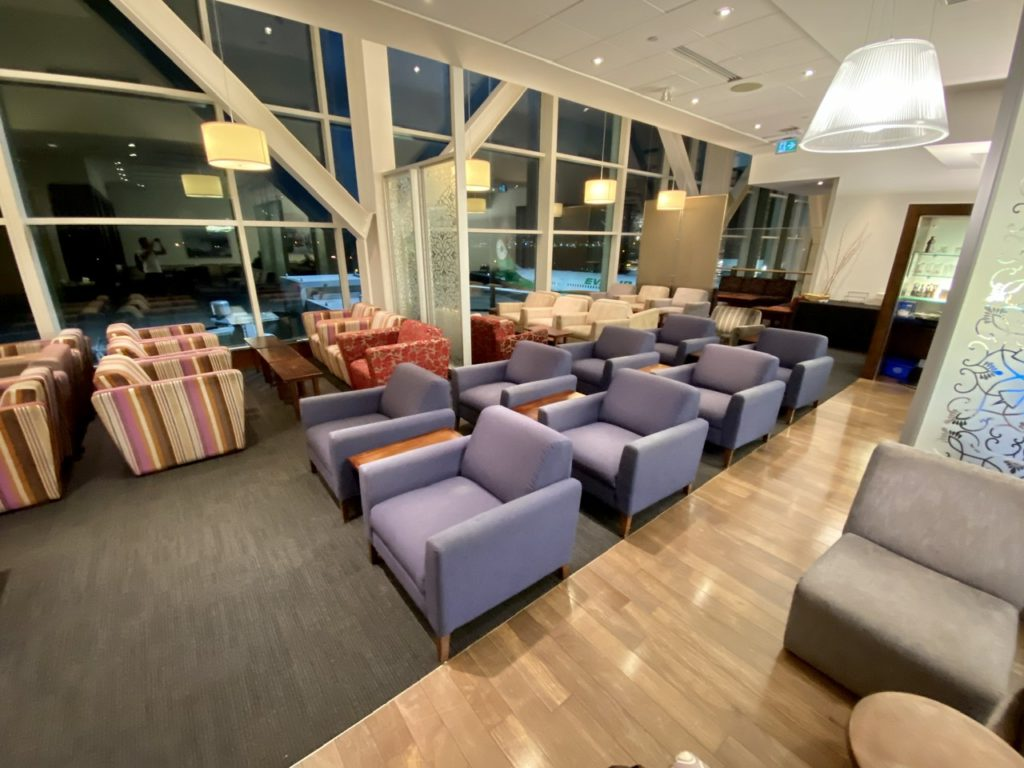 BA Lounge at Vancouver Airport