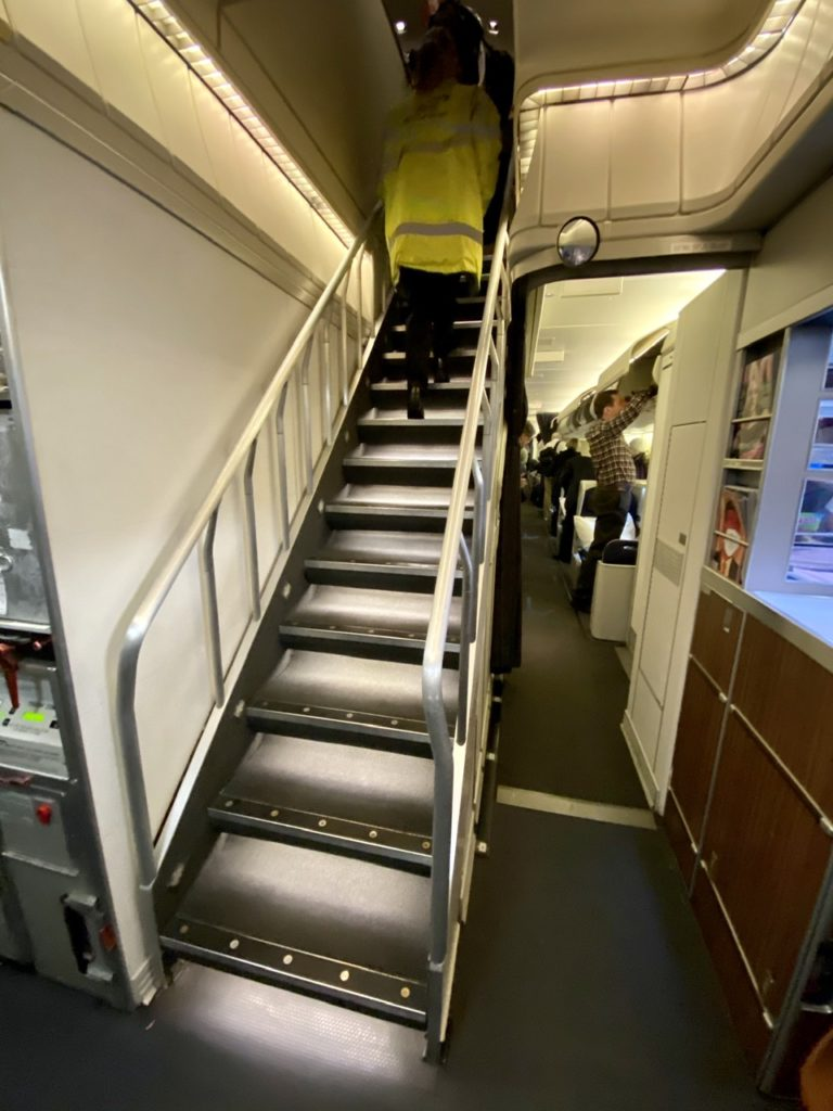 Staircase on BA 747-400