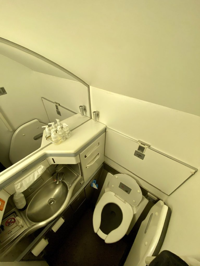Washrooms on BA 747 business class