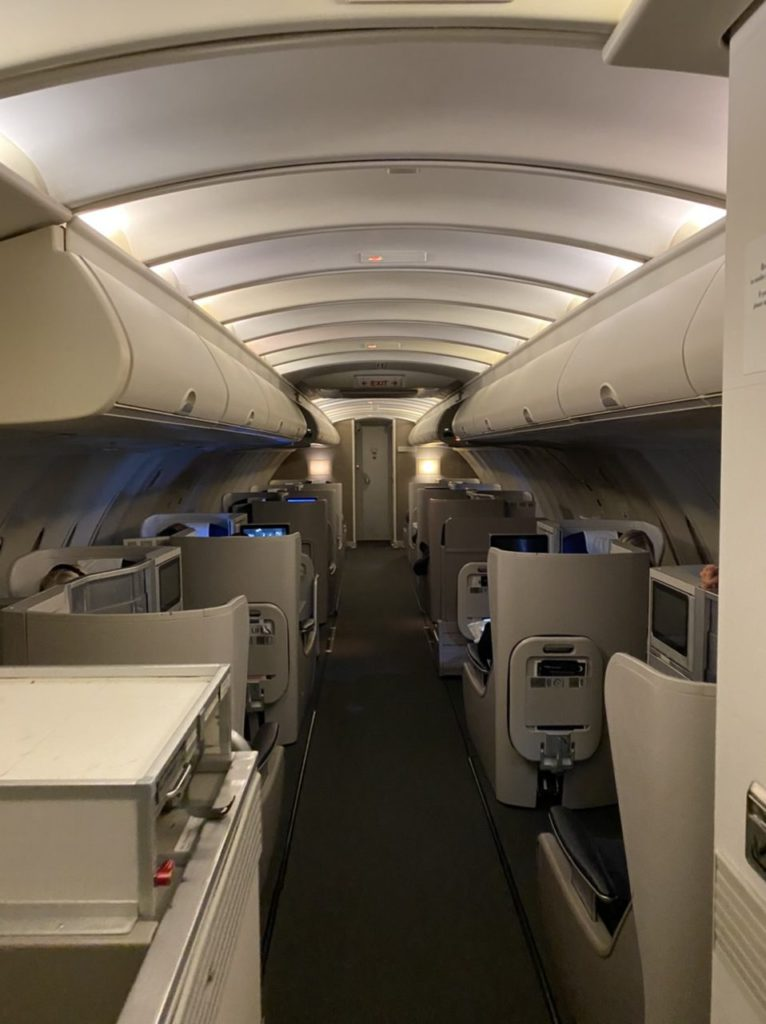 Upper deck on BA 747-400
