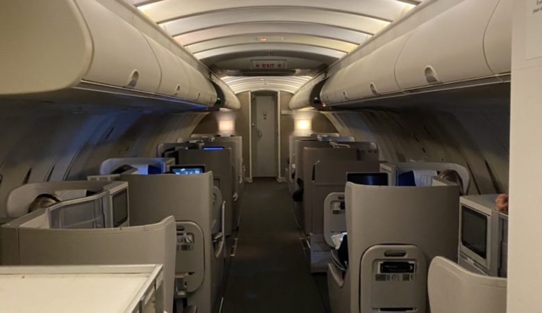 Upper deck on BA 747-400