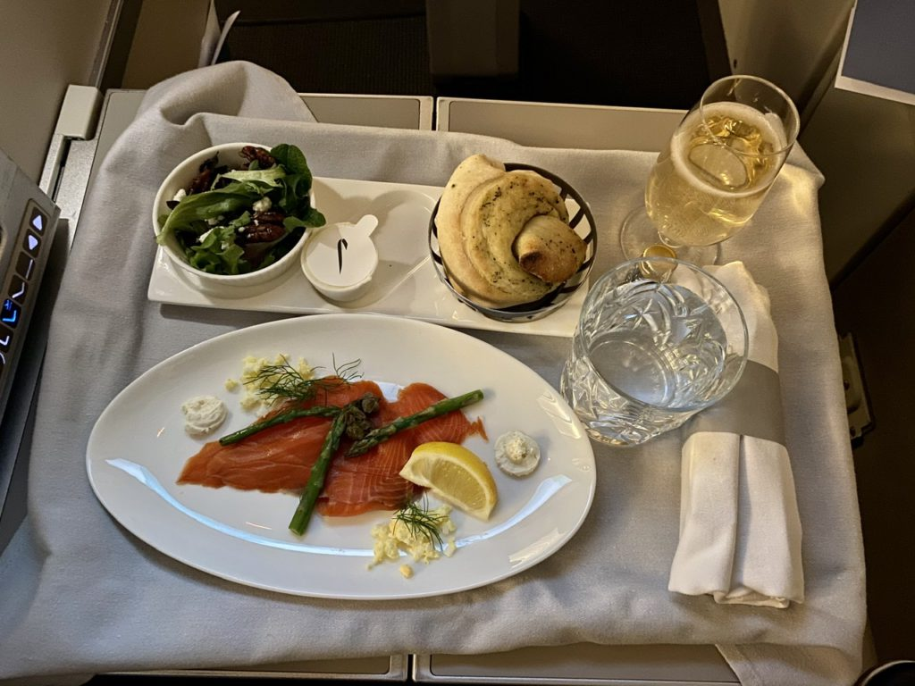 Starter on BA 747 business class