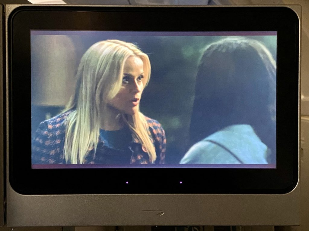 Big Little Lies on BA 747 business class