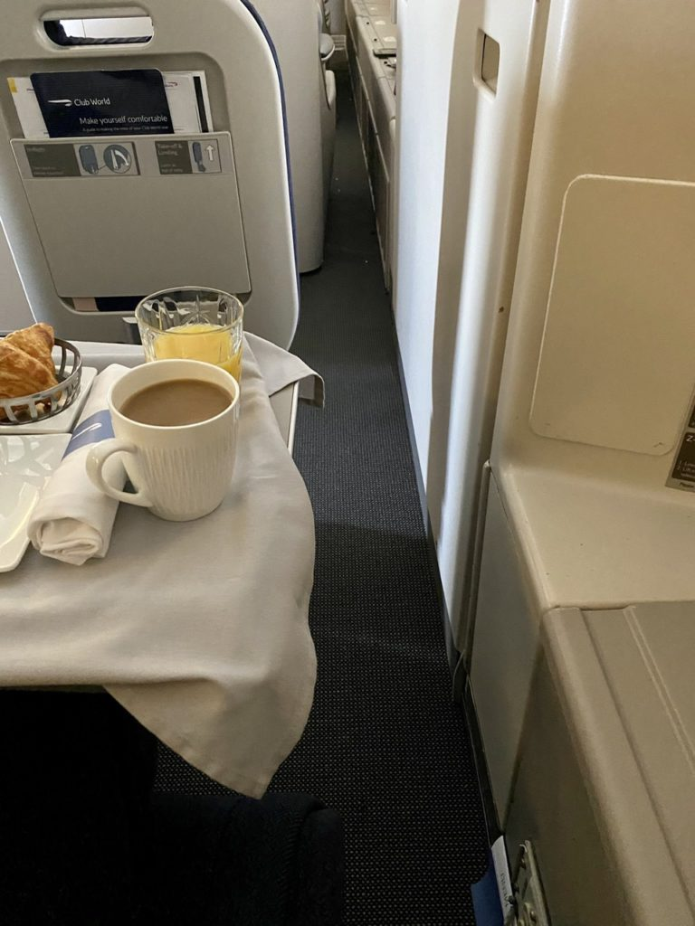 Seat access on BA 747 business class