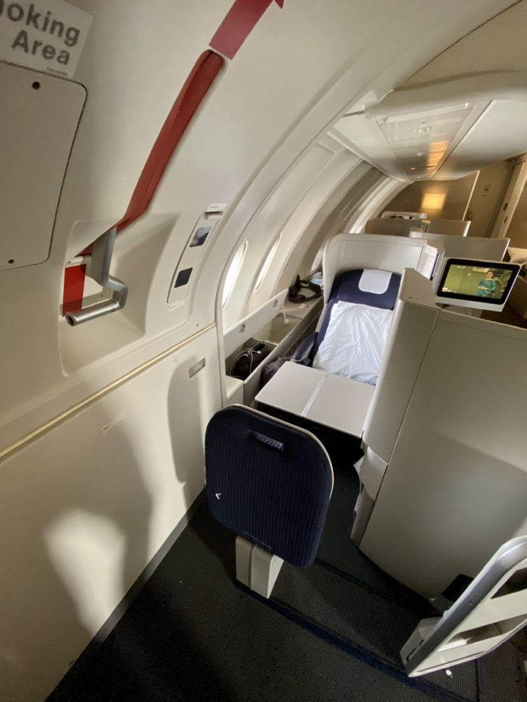 Seat 62A on BA 747 business class
