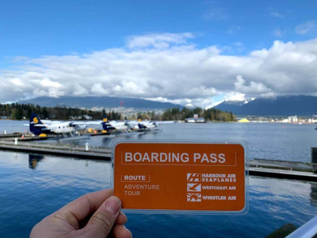 Our orange coloured boarding passes with Harbour Air